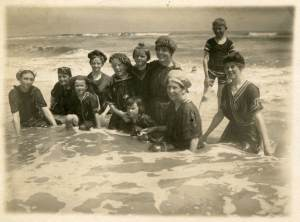 Early bathing suits at Daytona Beach