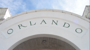 The arched letters that spell Orlando were designed by the station's architects in the 1920s.