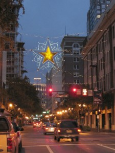 Orlando's star with its tiara of lights