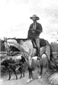 Bone Mizell as depicted by Remington