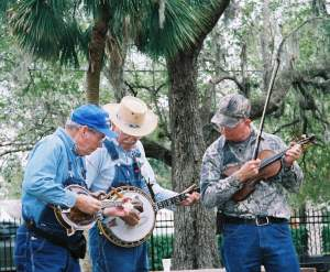 Bluegrass fills the air at Cracker Christmas