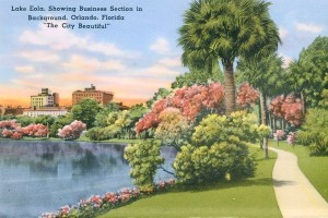 A vintage view of Lake Eola Park